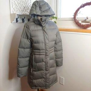 LL Bean Warm Core Down Coat, XS